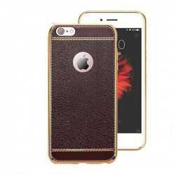 Platynowane etui na iPhone 6 Plus / 6s Plus SLIM Leather - brązowy.