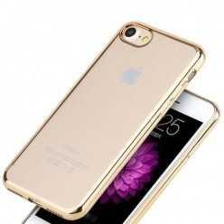 Platynowane etui na iPhone 7 silikon SLIM - złoty.