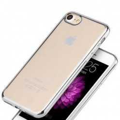 Platynowane etui na iPhone 7 silikon SLIM - srebrny.