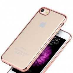 Platynowane etui na iPhone 7 silikon SLIM - różowy.