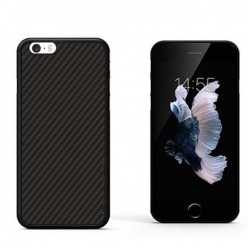 Gumowe etui na telefon iPhone SE Karbon - czarny.