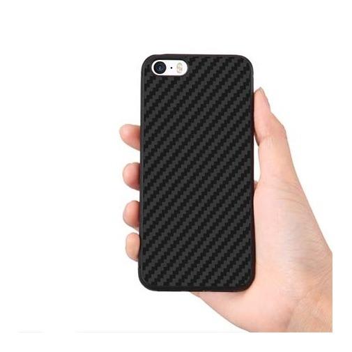 Gumowe etui na telefon iPhone 6 / 6s Karbon - czarny.