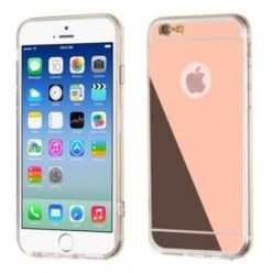 Silikonowe etui lustrzane mirror do iPhone 6 / 6s - rose gold.