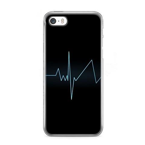 Etui na telefon iPhone 5 / 5s - puls - linia życia.