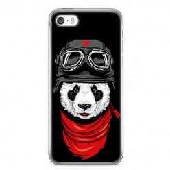 Etui na telefon iPhone 5 / 5s - panda w czapce.
