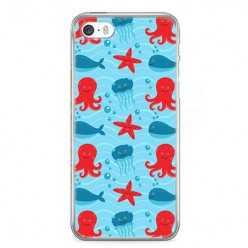 Etui na telefon iPhone 5 / 5s - morskie zwierzaki.