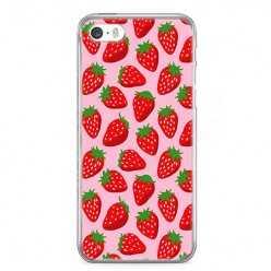 Etui na telefon iPhone 5 / 5s - czerwone truskawki.
