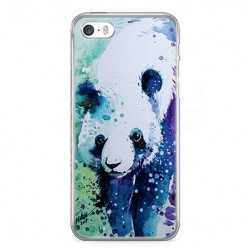 Etui na telefon iPhone 5 / 5s - miś panda watercolor.