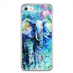 Etui na telefon iPhone 5 / 5s - kolorowy słoń.