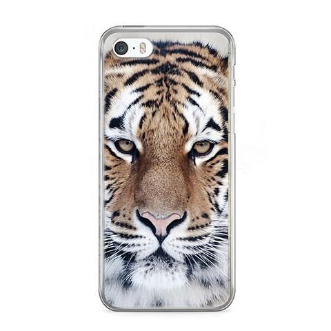 Etui na telefon iPhone 5 / 5s - biały tygrys.