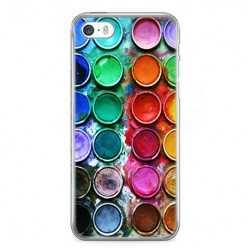 Etui na telefon iPhone 5 / 5s - kolorowe farbki plakatowe.
