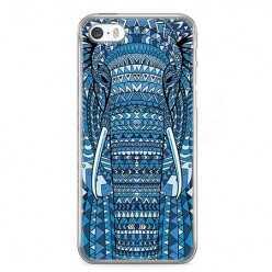 Etui na telefon iPhone 5 / 5s - niebieski słoń.