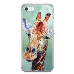 Etui na telefon iPhone 5 / 5s - żyrafa watercolor.