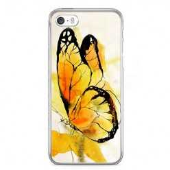 Etui na telefon iPhone 5 / 5s - motyl watercolor.