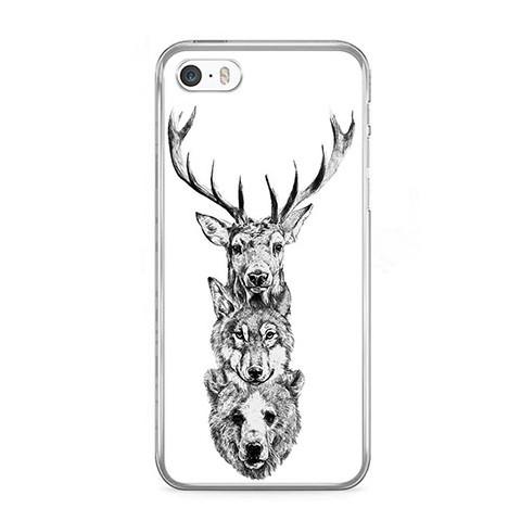 Etui na telefon iPhone 5 / 5s - władcy lasu.