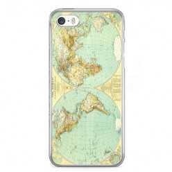 Etui na telefon iPhone 5 / 5s - mapa świata.