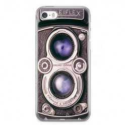 Etui na telefon iPhone 5 / 5s - aparat retro rolleiflex.
