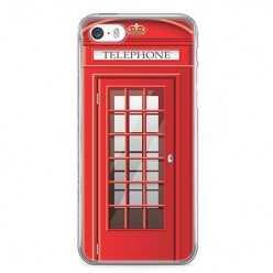 Etui na telefon iPhone 5 / 5s - czerwona budka telefoniczna.