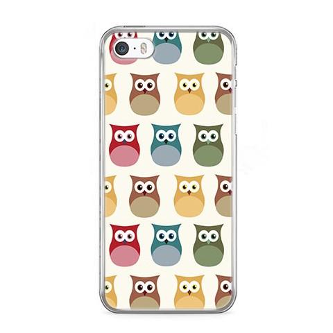 Etui na telefon iPhone 5 / 5s - kolorowe sowy.