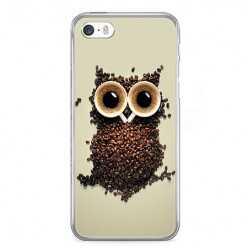 Etui na telefon iPhone 5 / 5s - sowa z kawy.