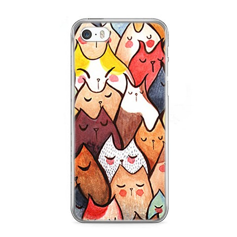 Etui na telefon iPhone 5 / 5s - kolorowe kotki.