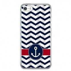 Etui na telefon iPhone 5 / 5s - marynarska kotwica.
