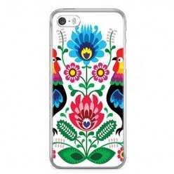 Etui na telefon iPhone 5 / 5s - łowickie wzory kwiaty.