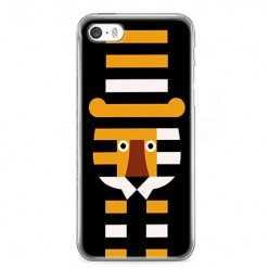 Etui na telefon iPhone SE - pasiasty tygrys.