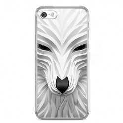 Etui na telefon iPhone SE - biały wilk 3d.