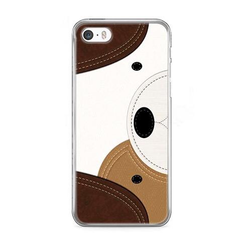 Etui na telefon iPhone SE - piesek face.