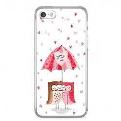 Etui na telefon iPhone SE - zakochane sowy.