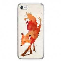 Etui na telefon iPhone SE - watercolor Lis.
