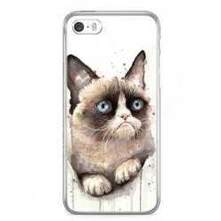 Etui na telefon iPhone SE - kot zrzęda watercolor.