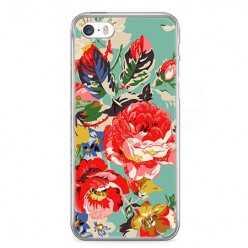 Etui na telefon iPhone SE - kolorowe róże.