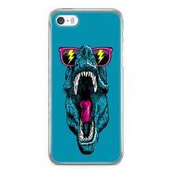 Etui na telefon iPhone SE - dinozaur w okularach.
