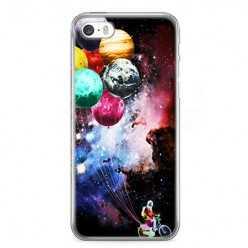 Etui na telefon iPhone SE - balonowe planety.