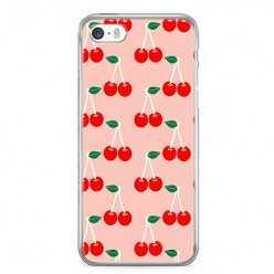 Etui na telefon iPhone SE - czerwone wisienki.
