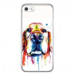 Etui na telefon iPhone SE - pies labrador watercolor.