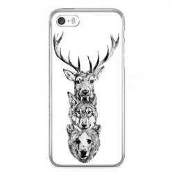 Etui na telefon iPhone SE - władcy lasu.