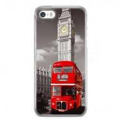 Etui na telefon iPhone SE - czerwony autobus.