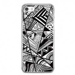 Etui na telefon iPhone SE - geometryczne wzory.
