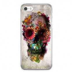 Etui na telefon iPhone SE - kwiatowa czaszka.