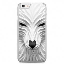 Etui na telefon iPhone 6 / 6s - biały wilk 3d.