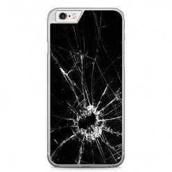 Etui na telefon iPhone 6 / 6s - czarna rozbita szyba.