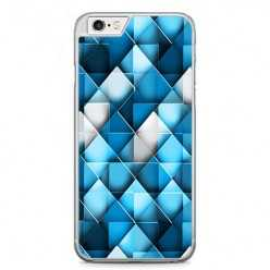Etui na telefon iPhone 6 / 6s - niebieskie rąby.