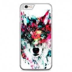 Etui na telefon iPhone 6 / 6s - głowa wilka watercolor.