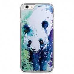 Etui na telefon iPhone 6 / 6s - miś panda watercolor.