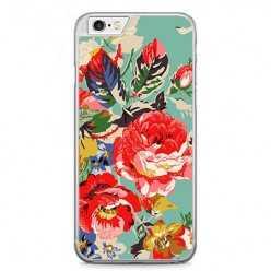 Etui na telefon iPhone 6 / 6s - kolorowe róże.