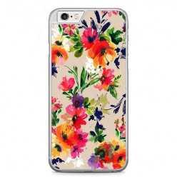 Etui na telefon iPhone 6 / 6s - kolorowe kwiaty.