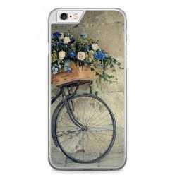 Etui na telefon iPhone 6 / 6s - rower z kwiatami.
